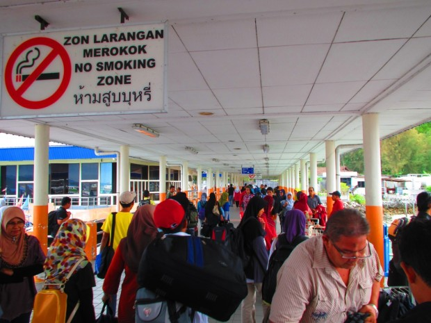 disembarking - in terminal