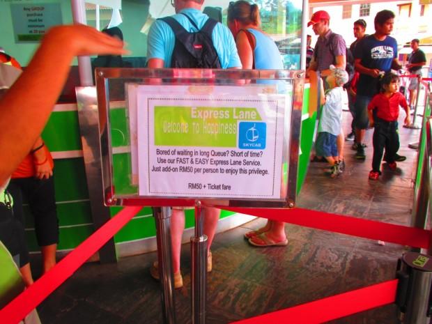 VIP queue - extra RM50 per person, please