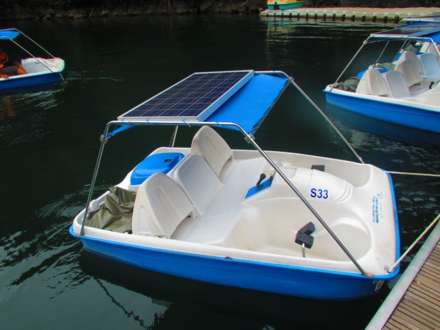 "RM20 to rent a paddle boat - but guess what - they are all rented, so you have to rent a solar ""powered"" one for RM30. Bait and switch. You still have to paddle as the ""power"" is almost non-existent."