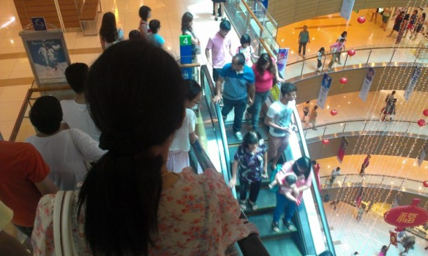 Gurney Plaza was packed - you had to line up to ride the escalator on some floors