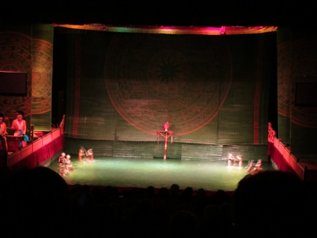 water puppet performance