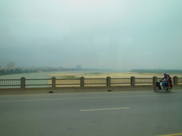 And it didn't take so long to leave the city - around 9AM be were crossing this bridge. It was Sunday, however.