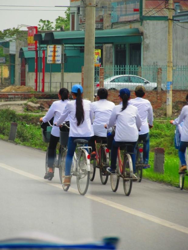 School children going home.