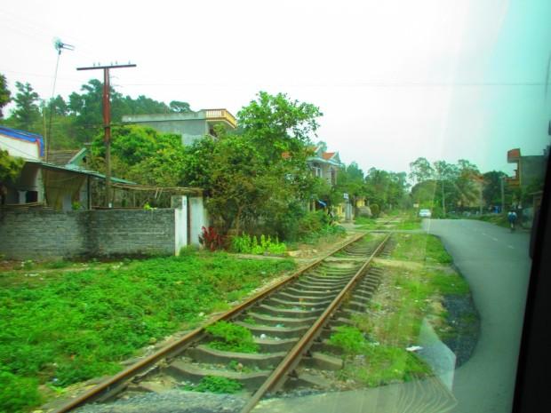 The railway line to China.