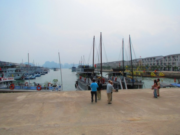 Where we board the small boat to take us to our larger boat.