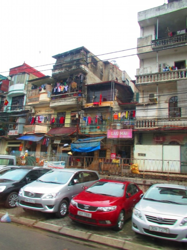 It was interesting seeing Hanoi as we drove out towards the country. Most of it was like this.