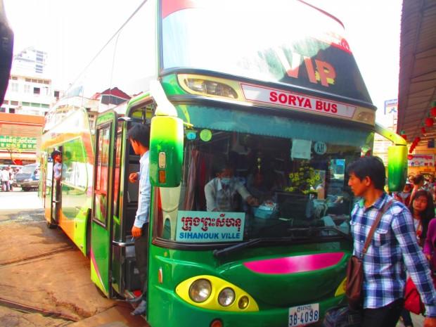 Bus to Sihanoukville