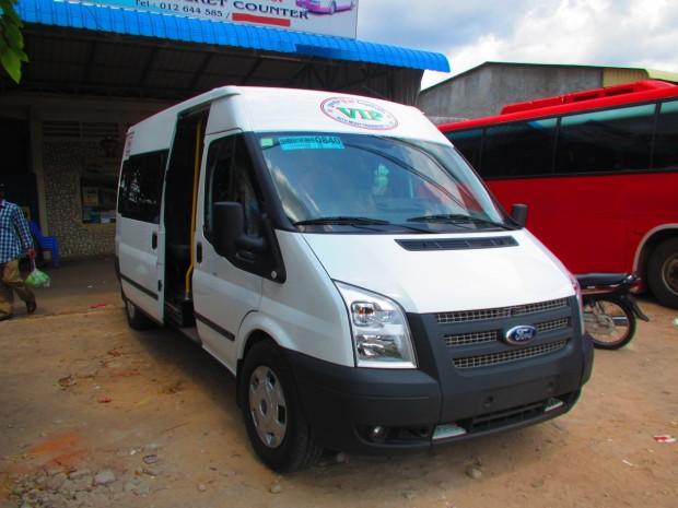 minivan, seating about 14 passengers