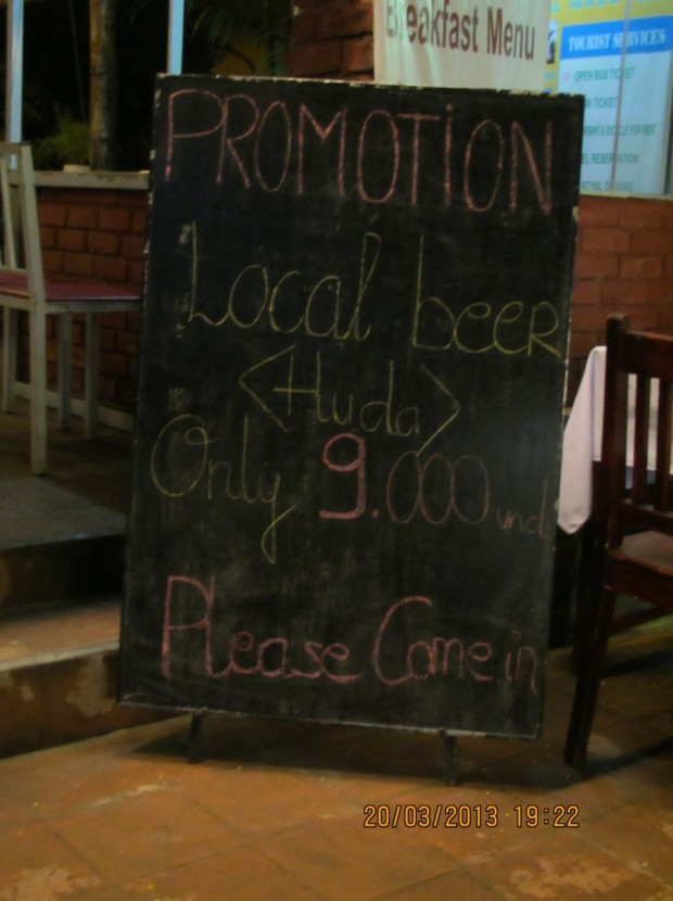 and the cheapest beer in the area
