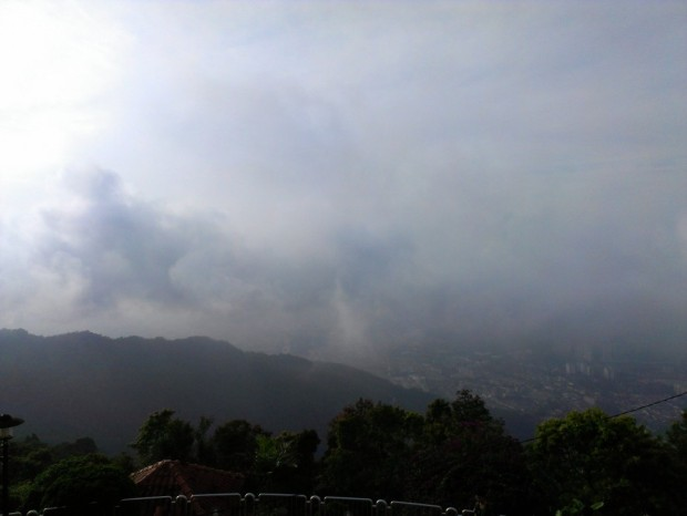 haze from Penang Hill