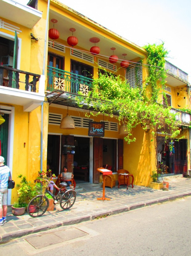 nice terraced buildings - typical of Hoi An