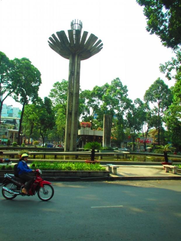 driving out of Saigon
