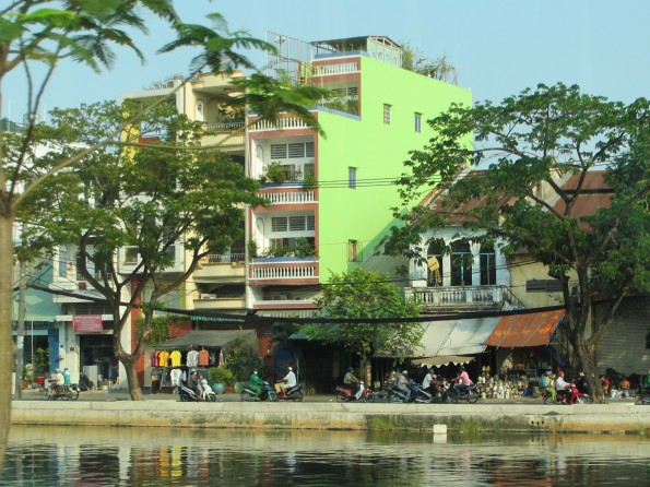 the drive along the river in Saigon was interesting