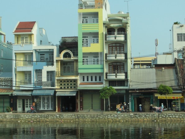 buildings on the river