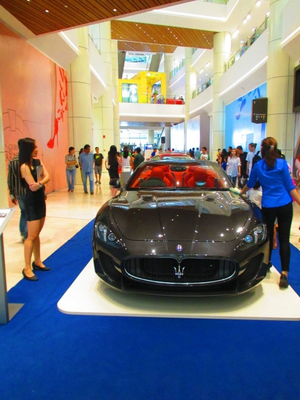 Maseratis on display