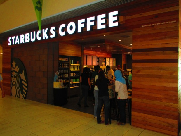 Starbucks is more cramped