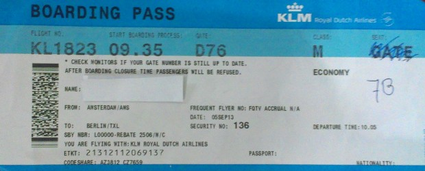 boarding pass for AMS- TXL