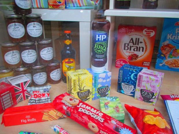 Die englische Lebensmittel kann man kaufen