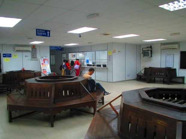 waiting room and ticket office