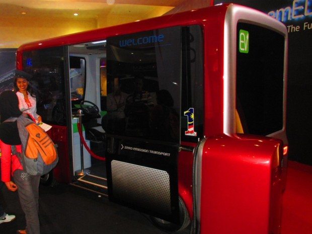 an electric shuttle bus