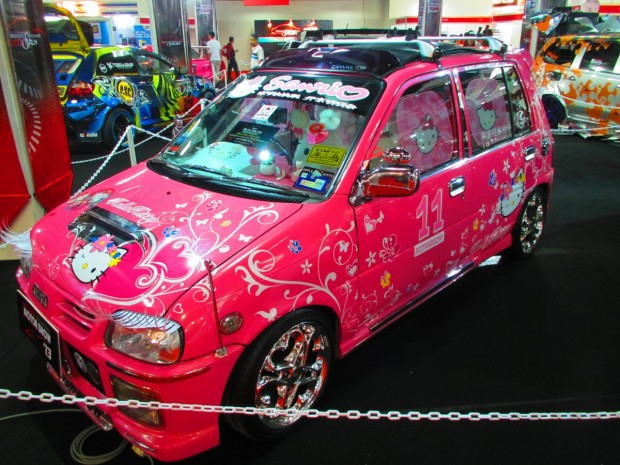 including Hello Kitty cars