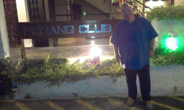 Matthew at the Penang Club