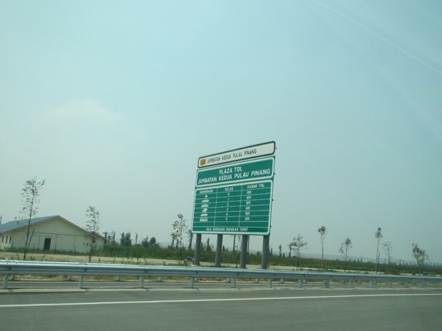 tolls are not yet signposted