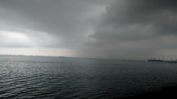 dark and threatening sky this morning