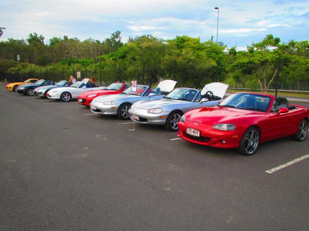saw lots of MX5's