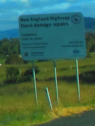 we're on the New England Highway