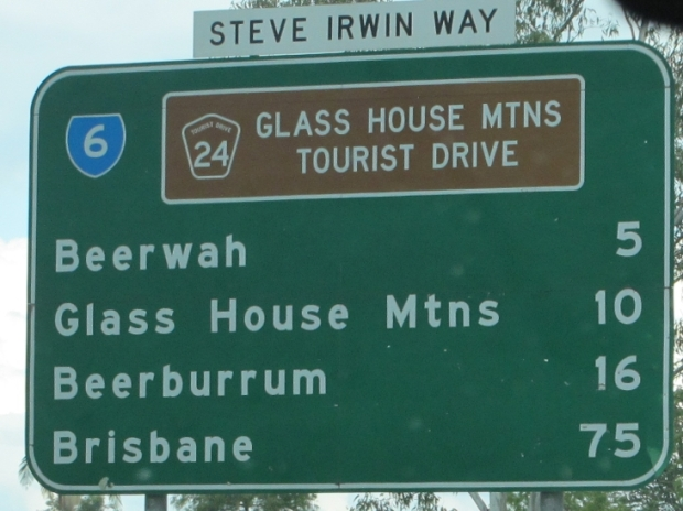 Glass House Mountains Tourist Drive - with no signs telling you how to get to the Glass House Mountains