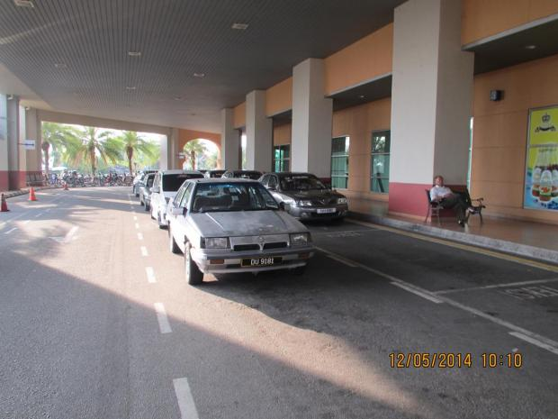 taxi stand at the airport
