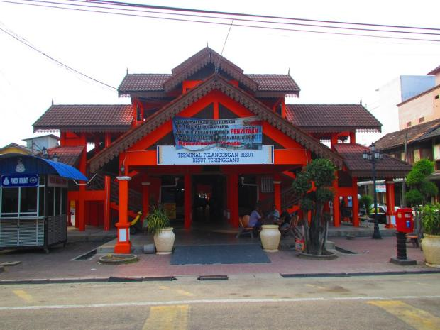 part of the jetty building in Kuala Besut