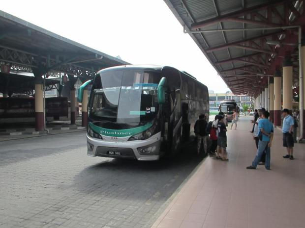 at the Alor Setar bus terminal