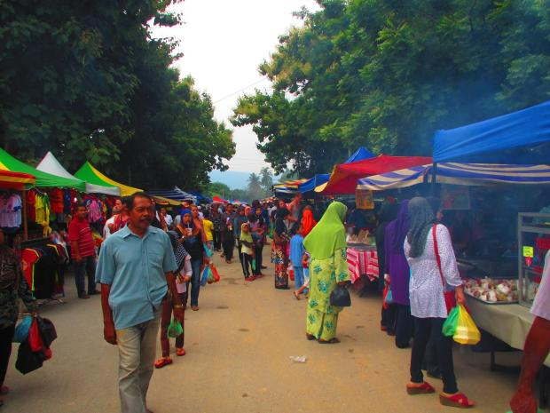 night market - which starts late afternoon