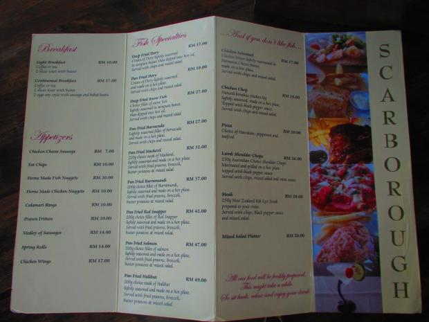 food menu