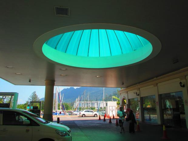 Petronas petrol station - with a mosque-like dome