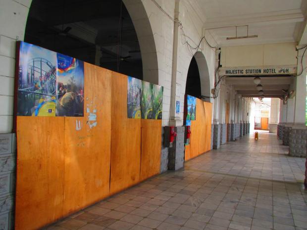 Railway Hotel under renovation