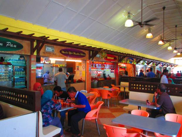food court at a motorway stop
