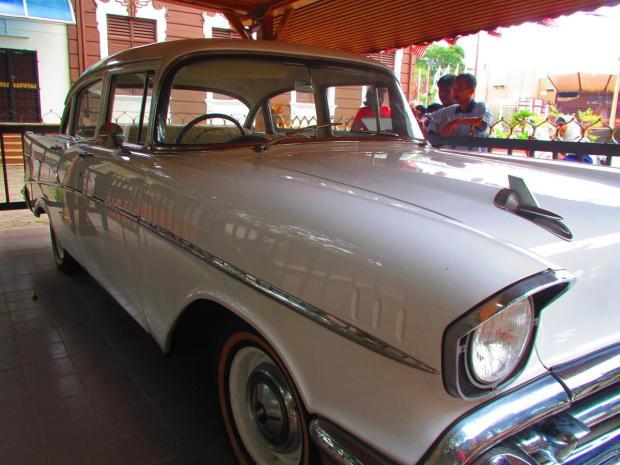 car on display in Malacca Heritage area