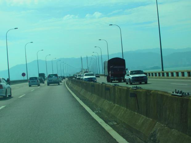 crossing Penang Bridge