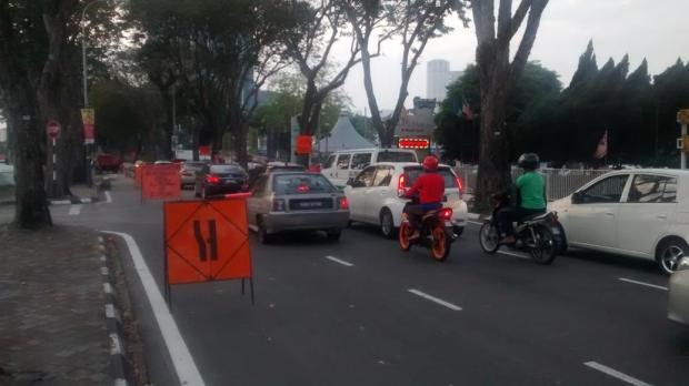 start of road works