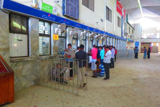 Chittagong Station ticket windows
