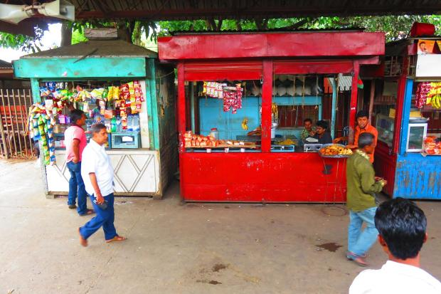 food stalls at the station enroute