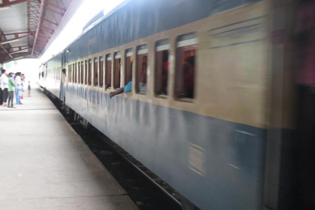 train to Dhaka arriving