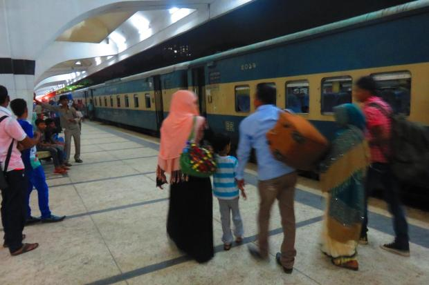 arriving at Dhaka Station