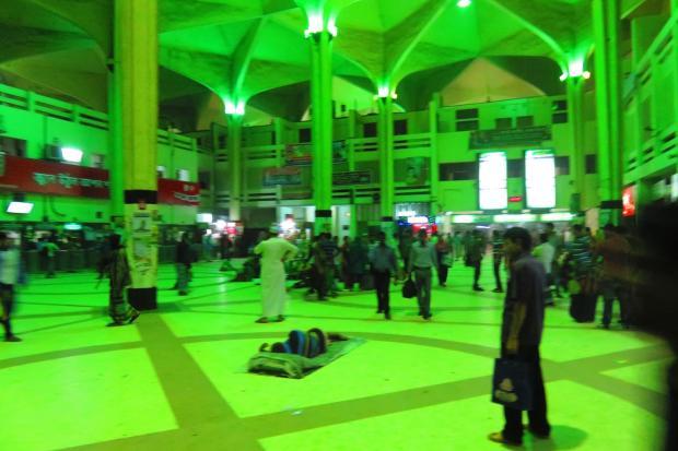 arriving at Dhaka Station
