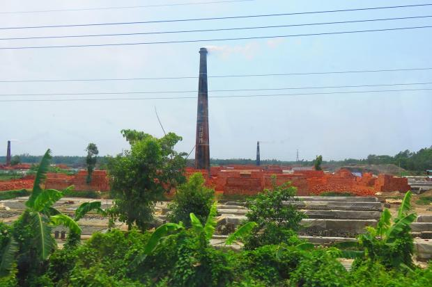 lots of brick factories