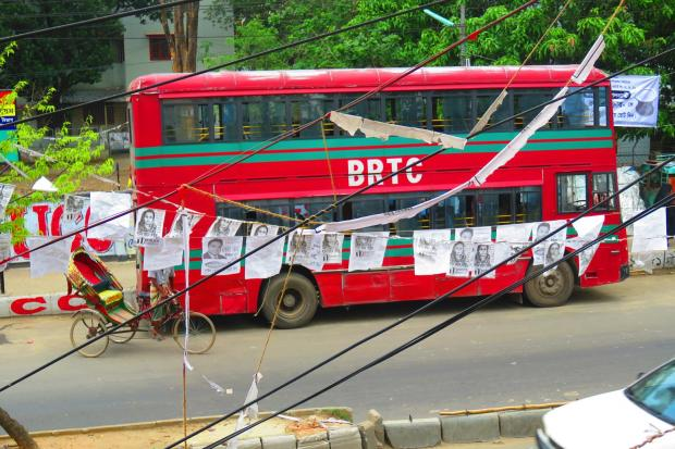 Leyland bus in Dhaka