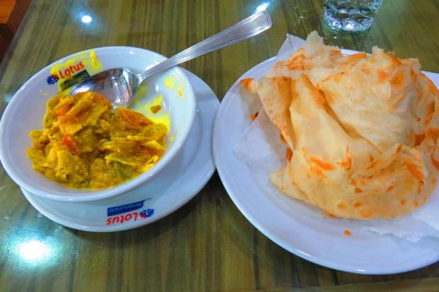 dhal and paratha